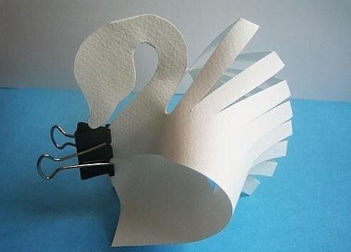 Поделка Лебеди Простая техника для деток