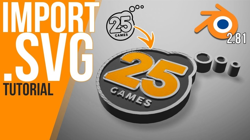 How to import a SVG work with it Blender 2 81 Tutorial