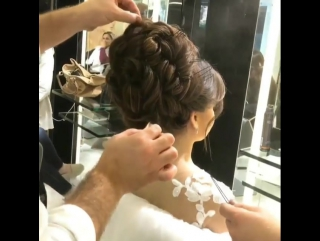 Красивая свадебная прическа, видео урок, мк
