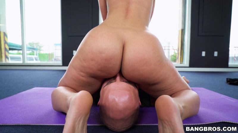 Jada Stevens (Pornstar does yoga for AP)[Big Ass, Booty, Blowjob, Cum Shot, Deep Throat, Gagging, Pornstar, White, HD 1080p]
