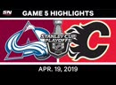 NHL Highlights _ Avalanche vs. Flames, Game 5 – April 19, 2019