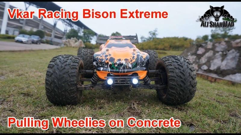 Vkar Racing Bison Extreme RC 4WD Truggy Longest Wheelies