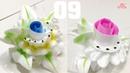 Học Làm Hoa Kem Banh Kem Bánh Sinh Nhật Đẹp - Hai Loại Hoa ( 09 )