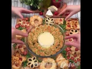 Прекрасные идеи закусок из теста на Новогодний стол!!