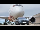 Tesla Model X P100D pulling a Boeing 787 Qantas World Record