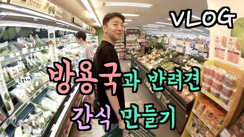 [브이로그] 방용국이랑 황태야채죽 (강아지 간식) 만들기 도전! feat.김퓨리5