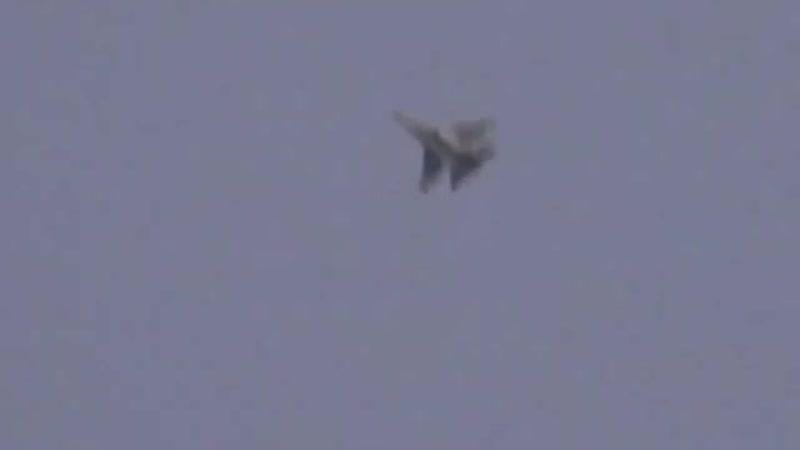 Удары L-39 ВВС САР и Су-35С ВКС РФ по позициям боевиков в Хан-Шейхуне