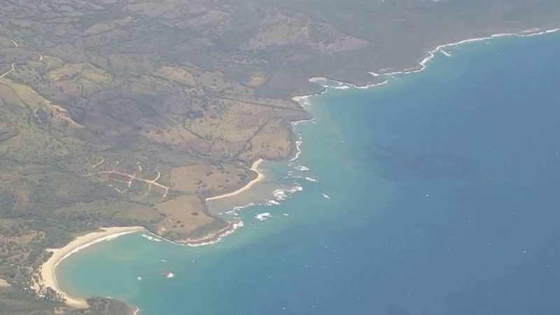 Flying Over North Coast of Dominican Republic Landing At Gregorio Luperon Airport Puerto Plata POP