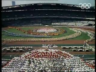 Открытие Олимпийских игр Сеул-1988. Фрагмент