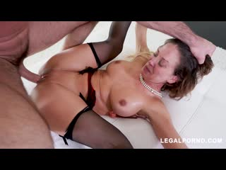 Horny Cherie DeVille gets all her holes filled(Asslicking, Rimming, A2M, Toys, Anal, DP, Lingerie, Big tits, MILF,Hardcore)