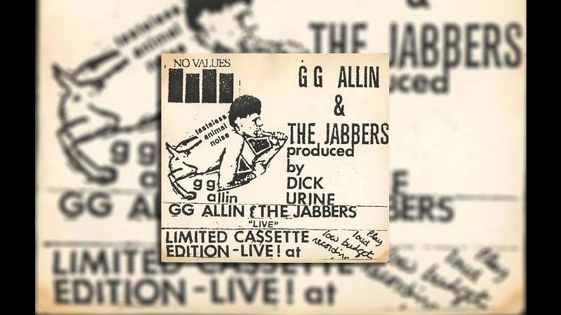 GG Allin The Jabbers — Tasteless Animal Noise (Cassette, 1982)