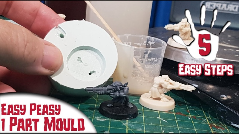 5 Easy Steps for a 1 Part Mould for Wargaming Miniatures Tabletop Gaming