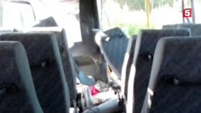 Рейсовый автобус под Челябинском столкнулся скатком