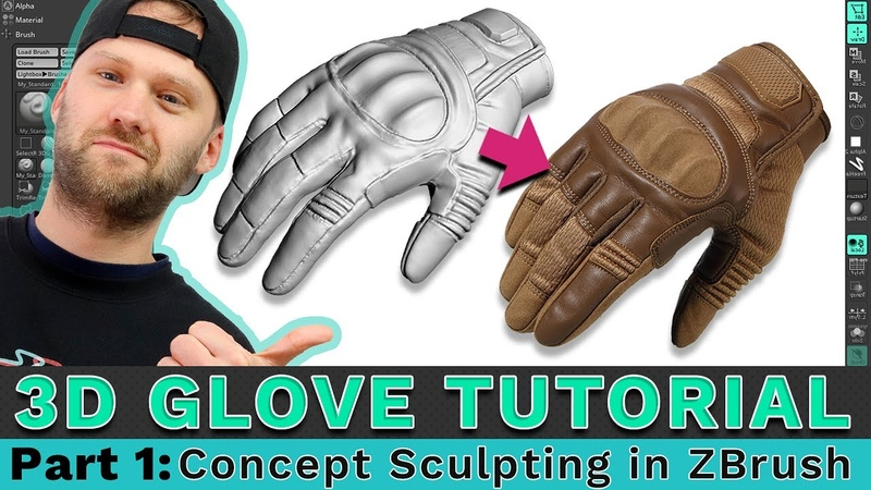 3D Glove Modeling Tutorial PART 1: Concept Sculpting in ZBrush