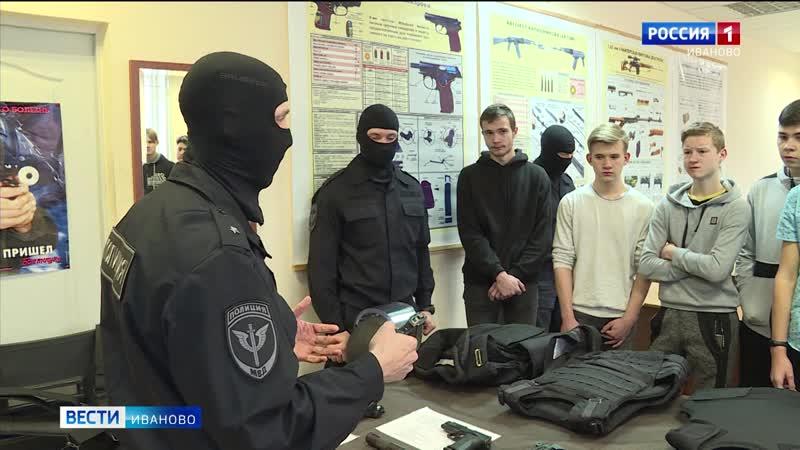 С участниками «Студенческого десанта» встретились бойцы спецподразделения «Гром»