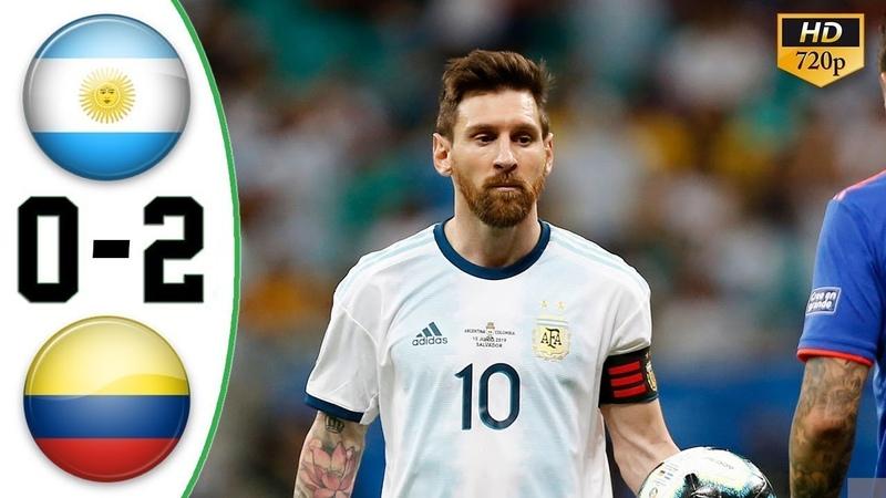 🔥 Аргентина - Колумбия 0-2 - Обзор Матча Кубок Америки 16062019 HD 🔥