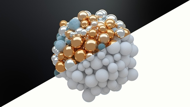 C4D Abstract Spheres Pt 2 - Octane Lighting Texturing - Cinema 4D Tutorial (Free Course)