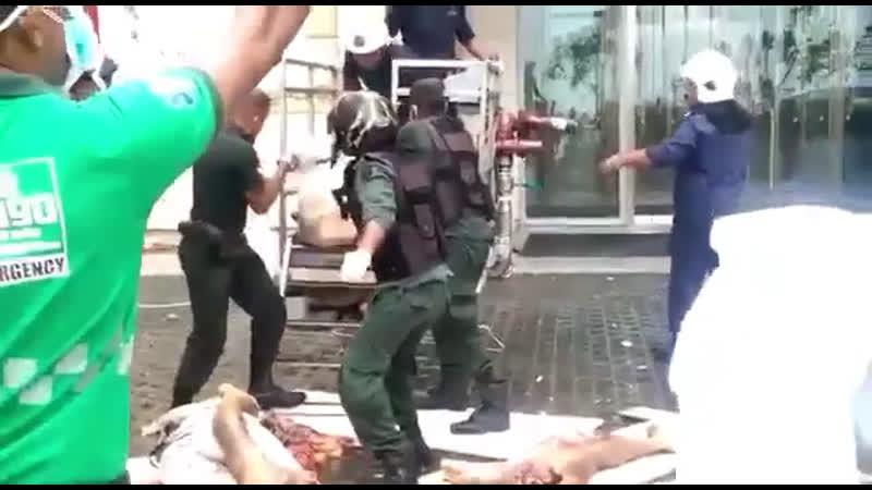 Жуткие последствия терактов на Шри-Ланке появились на видео