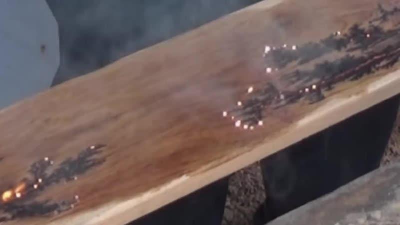 Молнии на дереве. Как это сделано. Lightning on wood. How its made