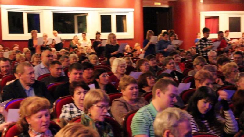 Флешмоб дружбы народов на концерте Я Сумишевского в Иркутске