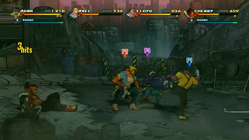 11 Minutes Of Streets Of Rage 4 Co-op Gameplay