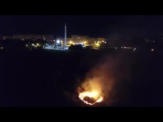 Пожар из-за салюта в Ульяновске 2020