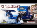 BULLET BURNOUT TRUCK || 2 SUPERCHARGERS, 4 TURBOS LOTS OF BOOST!!