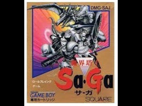 [ゲーム動画] 魔界塔士 Sa・Ga OP~ED (1989年 ゲームボーイ) 【GB Longplay The Final Fantasy Legend (Full Games)】