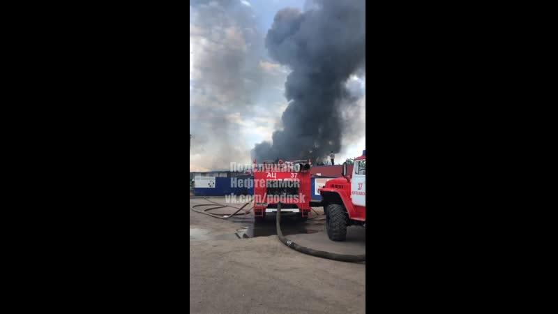 Пожар возле базы овощной