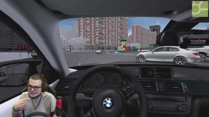 МОЯ МЕЧТА BMW M4 НА РУЧКЕ ЗИМНИЙ ВЫЕЗД ПО ГОРОДУ CITY CAR DRIVING С РУЛЁМ