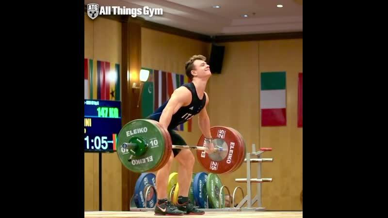 Мирко Занини (67kg 🇮🇹) snatches 147kg