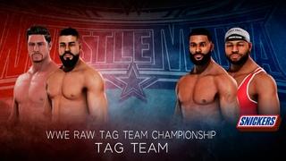 WWE2k20. Прогнозы WrestleMania 36: Andrade & Angel Garza  Profits(c)