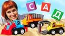 Маша Капуки Кануки и Мультики для детей! Кубики с буквами и машинки в песочнице