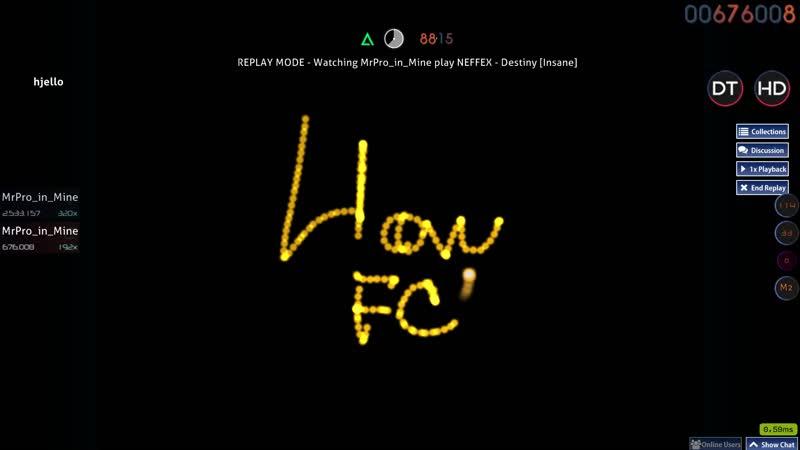 Osu! | NEFFEX - DESTINY[INSANE] | HDDT FC