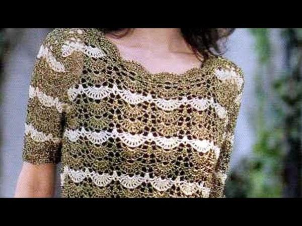 Crochet pattern for top Häkelanleitung für oben Patron au crochet نمط الكروشيه