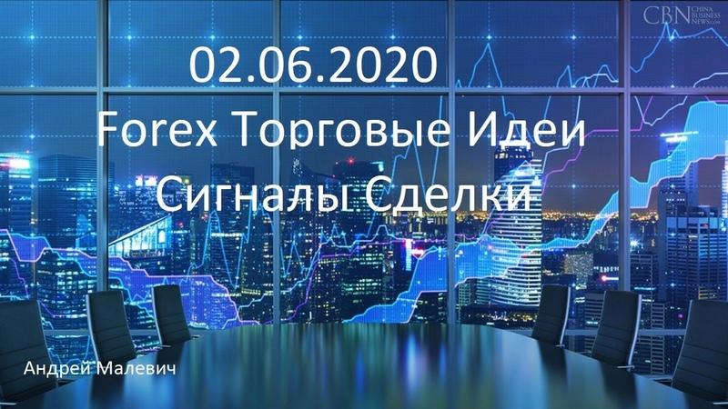 02 06 2020 Forex Торговые идеи Сигналы сделки
