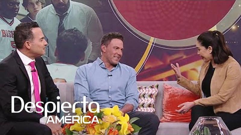 Ben Affleck llega a Despierta América demostrando lo bien que habla español