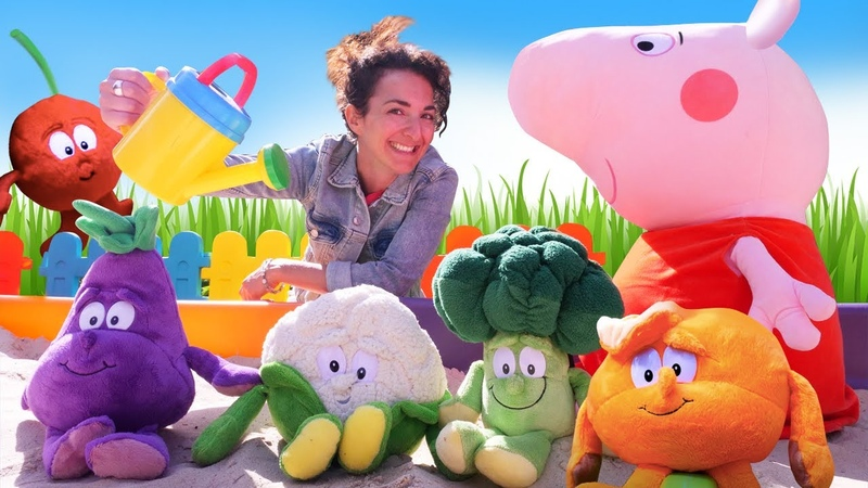 Impariamo con Peppa Pig Nomi dei colori della frutta e verdura Video educativo per bambini