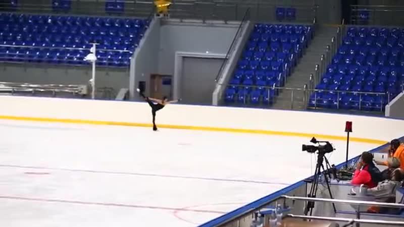 Evgenia Medvedeva, FS at practice. Russian Test Skates 2016