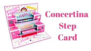 Unusual Concertina Step Card | Fun Fold Cards