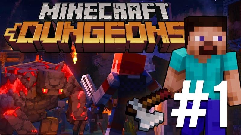 Minecraft Dungeons 1 Самое Начало Лес Криперов Elaige