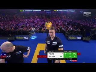 Josh Payne vs Diogo Portela (PDC World Darts Championship 2020 / Round 1)