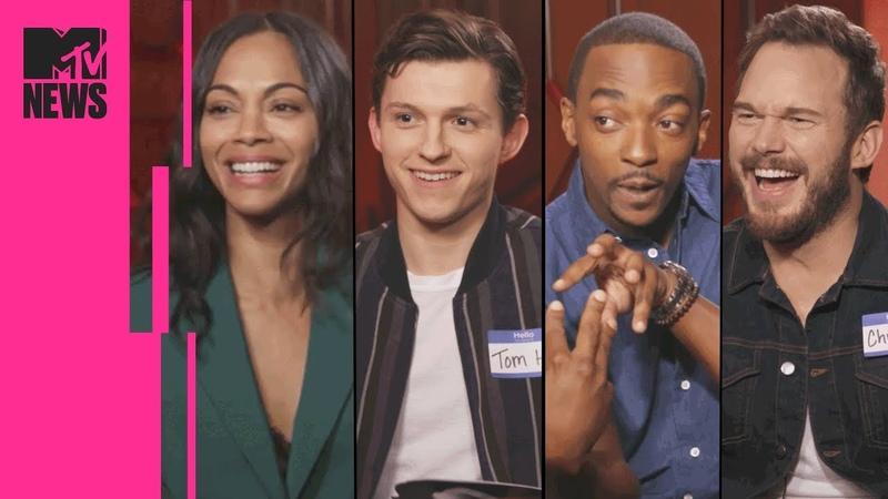 The Avengers Infinity War Cast Play Marvel Trivia | MTV News