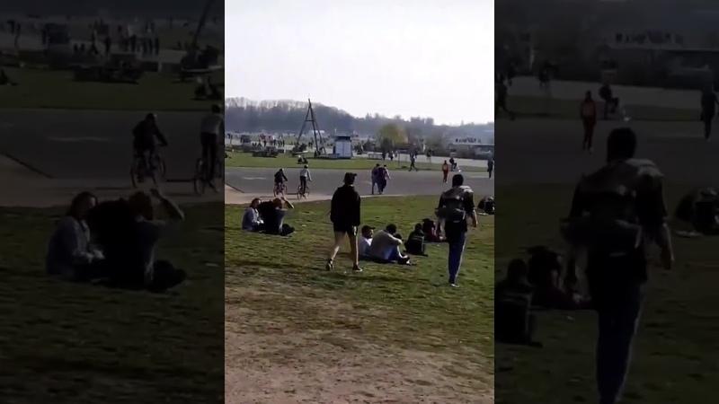 Auf dem Tempelhofer Feld in Berlin sah es heute aus wie an jedem Samstag