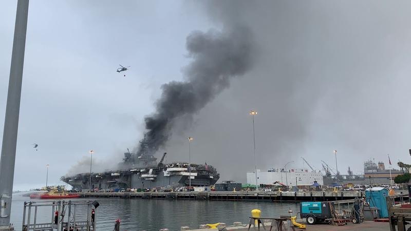USS Bonhomme Richard (LHD 6) Firefighting Efforts, July 13th Part Two