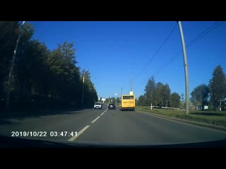 Момент ДТП на Автозаводе с наездом на пешехода(Ижевск)