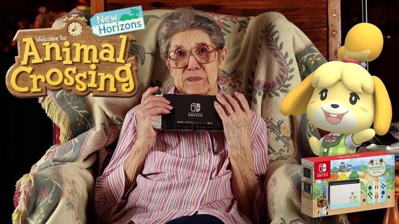 88 Year Old Grandma Unboxing Animal Crossing New Horizons Switch