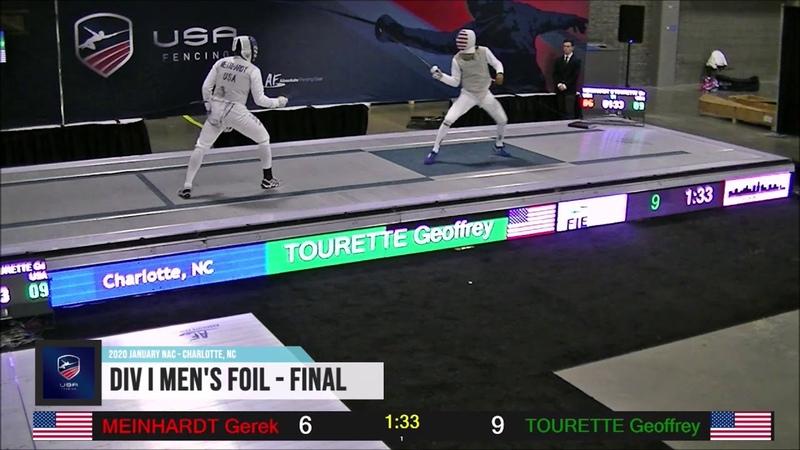 2020 January NAC Div I Men's Foil Gold Meinhardt vs Tourette