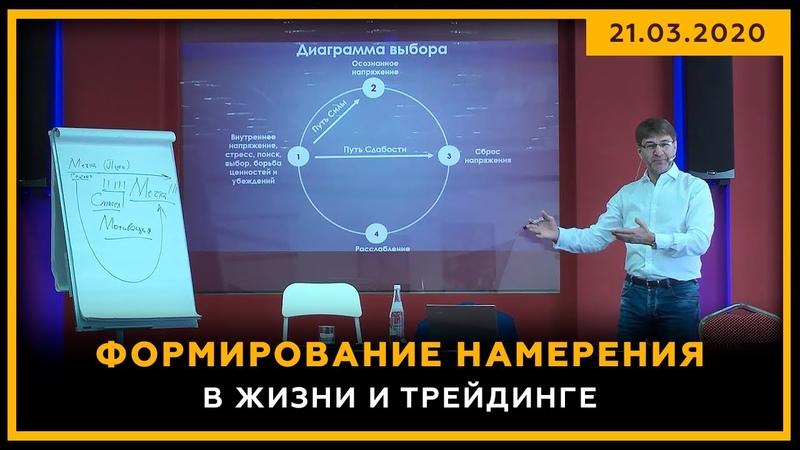 Формирование НАМЕРЕНИЯ в жизни и трейдинге. Фрагмент конференции «Активные Инвестиции». 18