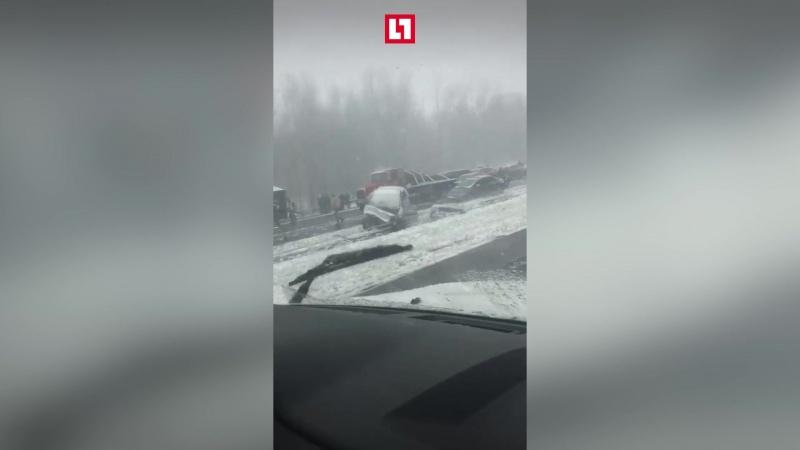 Авария из 50 машин